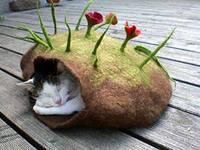 изготовление эко-домиков для кошек