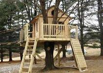 изготовление и обслуживание детских игровых домиков на деревьях