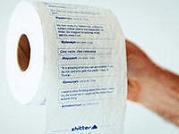 производство туалетной бумаги с вашими твитами с микроблога Twitter