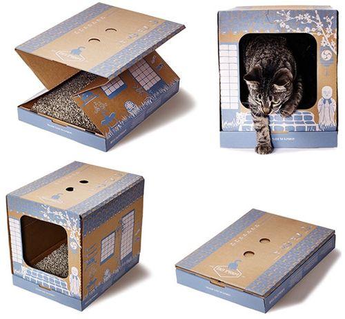 изготовление и продажа картонных эко-туалетов для кошек