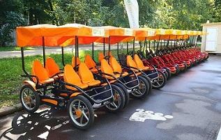 идея бизнеса, прокат веломобилей и двухколесных велосипедов